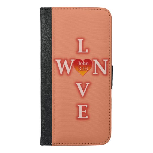 Love Won iPhone 6/6s Plus Wallet Case