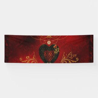Love, wonderful hearts banner
