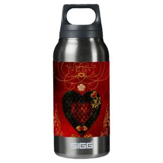 Love, wonderful hearts insulated water bottle