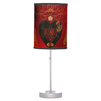 Love, wonderful hearts table lamp