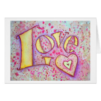 Love Word Art Greeting Card or Note Cards