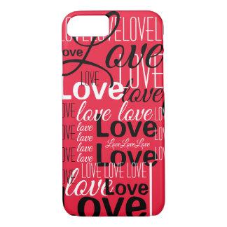 Love Word Art Pattern Case-Mate iPhone Case