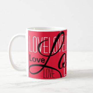 Love Word Art Pattern Coffee Mug