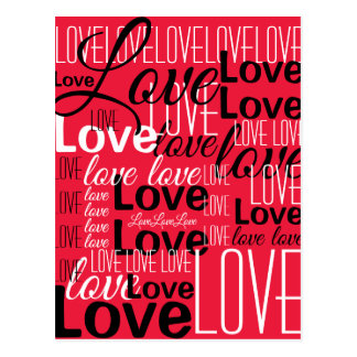 Love Word Art Pattern Postcard