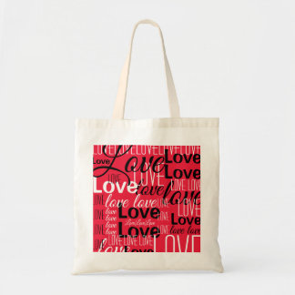 Love Word Art Pattern Tote Bag