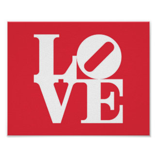 Love Word Graphic wall art decor red and white Print