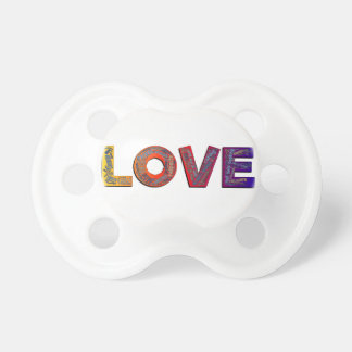 LOVE WORDS BABY PACIFIERS