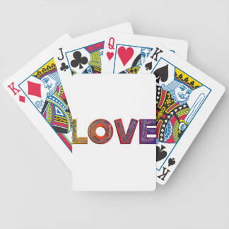 LOVE WORDS BICYCLE PLAYING CARDS
