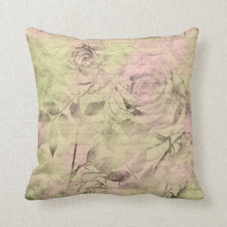 Love Words- floral pillow with handwritting