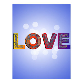 LOVE WORDS LETTERHEAD TEMPLATE