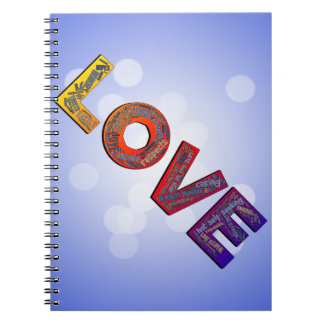 LOVE WORDS SPIRAL NOTEBOOK
