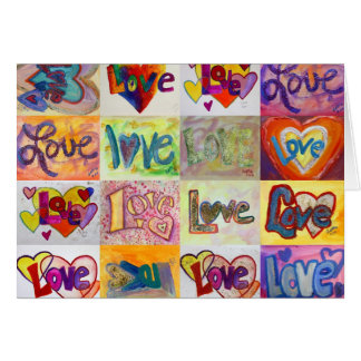 Love Words XOXO Art Greeting Card or Note Cards