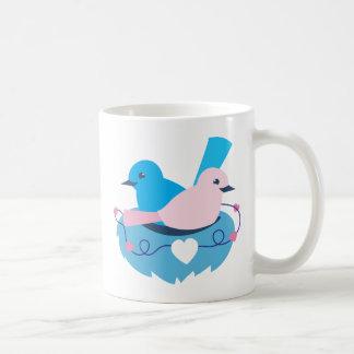 Love wrens lovebirds nest classic white coffee mug