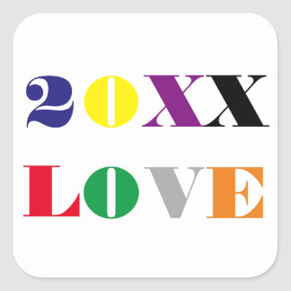 Love Year -Square Sticker