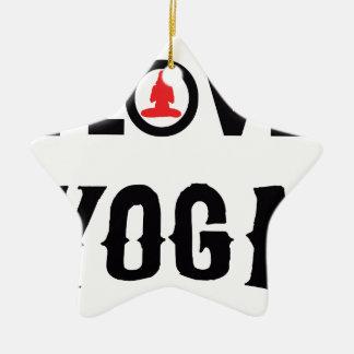 LOVE YOGA CERAMIC STAR ORNAMENT