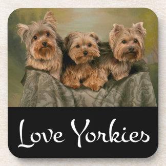 Love Yorkies Yorkshire Terrier Puppy Dog Coaster