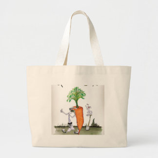 Love Yorkshire big carrots Large Tote Bag