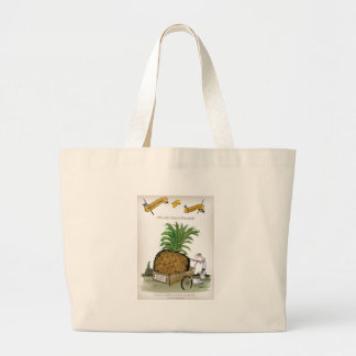 Love Yorkshire big pineapples Large Tote Bag