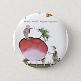 Love Yorkshire big radish 2 Inch Round Button