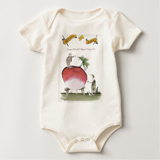 Love Yorkshire big radish Baby Bodysuit