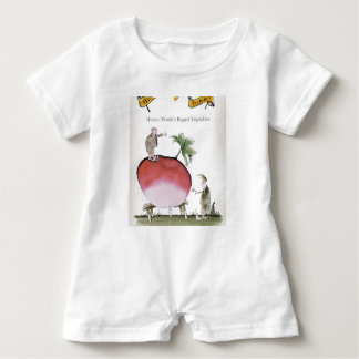 Love Yorkshire big radish Baby Romper