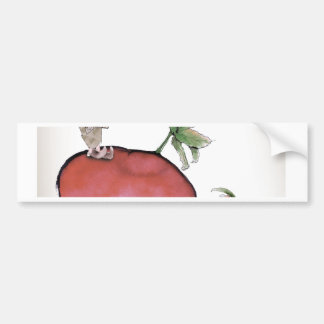 Love Yorkshire big radish Bumper Sticker