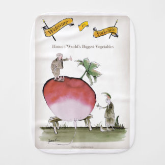 Love Yorkshire big radish Burp Cloth