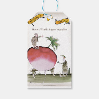 Love Yorkshire big radish Gift Tags