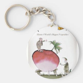 Love Yorkshire big radish Keychain