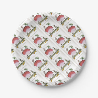 Love Yorkshire big radish Paper Plate