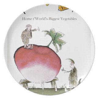 Love Yorkshire big radish Plate