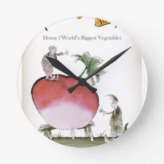 Love Yorkshire big radish Round Clock