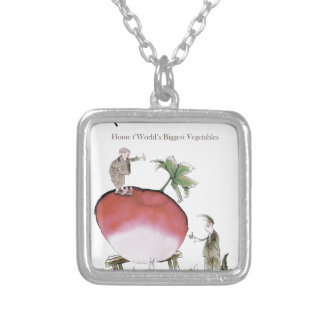 Love Yorkshire big radish Silver Plated Necklace