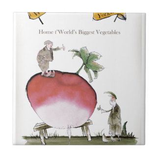 Love Yorkshire big radish Tile