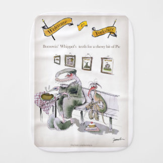 love yorkshire borrowing whippets teeth burp cloth