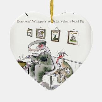 love yorkshire borrowing whippets teeth ceramic ornament
