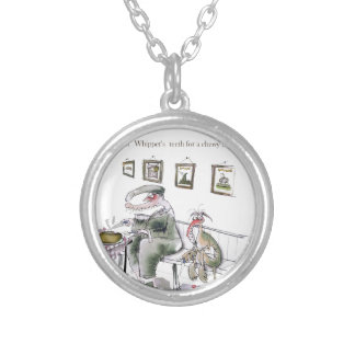 love yorkshire borrowing whippets teeth silver plated necklace