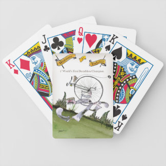 love yorkshire decathlons bicycle playing cards