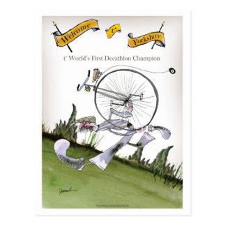 love yorkshire decathlons postcard