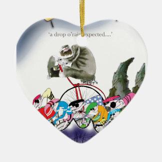 love yorkshire drop o'rain ceramic ornament