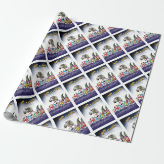 love yorkshire drop o'rain wrapping paper