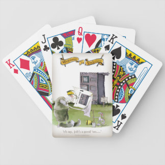 love yorkshire 'ey up, jobs a good 'un' bicycle playing cards