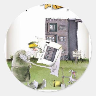 love yorkshire 'ey up, jobs a good 'un' classic round sticker