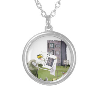 love yorkshire 'ey up, jobs a good 'un' silver plated necklace
