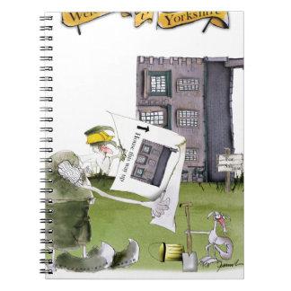 love yorkshire 'ey up, jobs a good 'un' spiral notebook