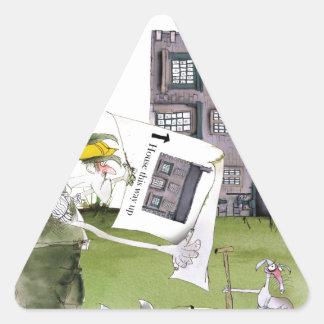 love yorkshire 'ey up, jobs a good 'un' triangle sticker