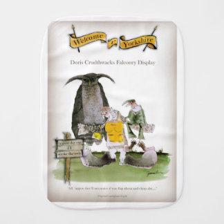 love yorkshire falconry display burp cloth