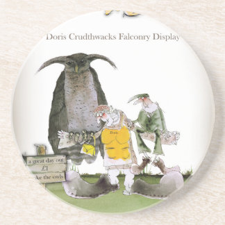 love yorkshire falconry display coaster
