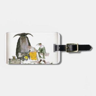 love yorkshire falconry display luggage tag