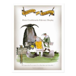 love yorkshire falconry display postcard